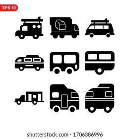 camper icon or logo isolated sign symbol vector illustration - Collection of high quality black style vector icons