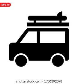 camper icon or logo isolated sign symbol vector illustration - high quality black style vector icons