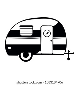 Camper trailer icon, Camper vector Illustration isolated