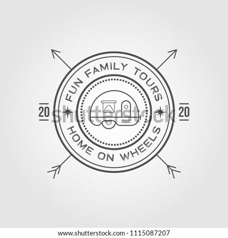 camper trailer logo design template home stock vector royalty free