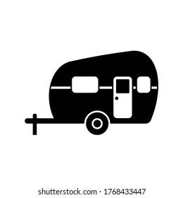 Camper Vector Illustration on White
