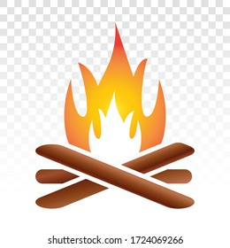 campfire / bonfire flat icon on a transparent background