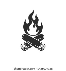 Campfire graphic icon. Campfire sign isolated on white background. Vector illustration