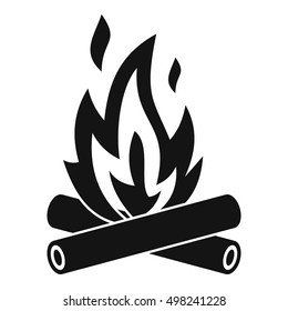 Campfire Icon Simple Illustration Of Vector For Web Wood In Fire Logo