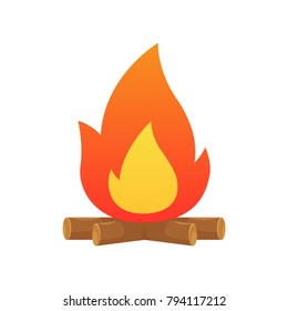 Campfire vector isolated illustration