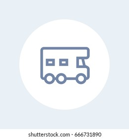 camping car icon, camper vector sign
