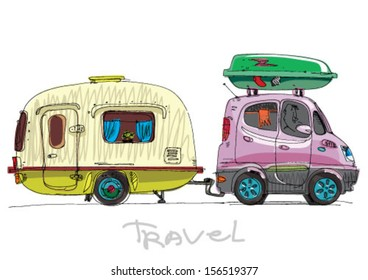 camping - cartoon