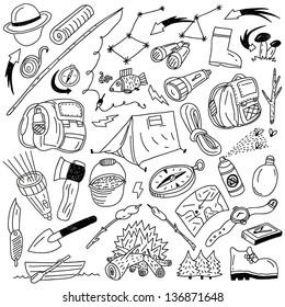 Camping - doodles