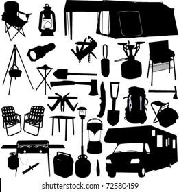 camping equipment 2 - vector
