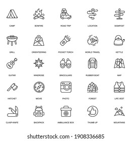 Camping full icons set for your project design