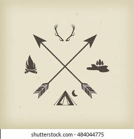 Camping, hunting sign
