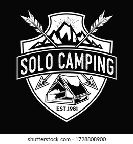 Camping Lamp vintage Adventure Outdoor Logo Set Vector