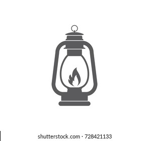 Camping lantern icon. Vector camp lamp. Lamp icon.