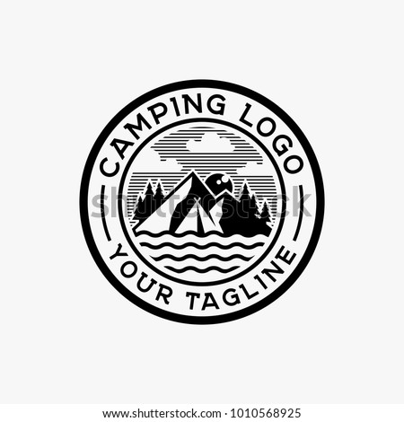 camping logo design inspiration outdoor logo stock vector royalty