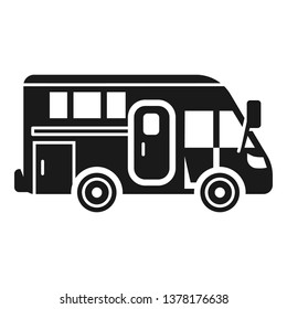 Camping motorhome icon. Simple illustration of camping motorhome vector icon for web design isolated on white background