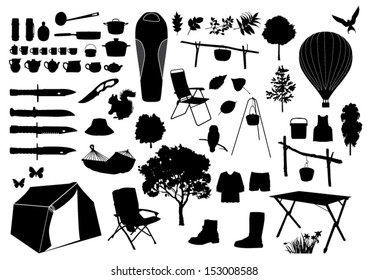 Camping Silhouette Images, Stock Photos & Vectors | Shutterstock