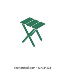 Camping stool icon. Vector illustration