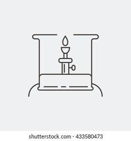 Camping stove. Portable stove. Primus stove. . Thin line icon. Vector illustration.