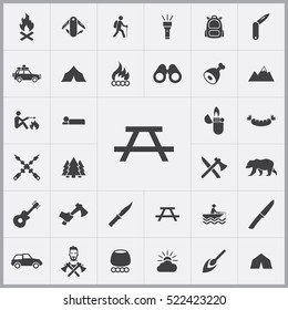 camping table icon. camping icons universal set for web and mobile