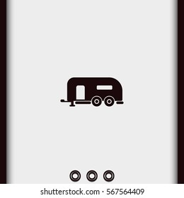 Camping trailer icon.