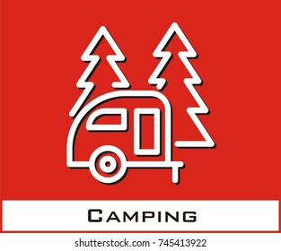 Camping vector icon