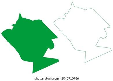 Campo Alegre municipality (Alagoas state, Municipalities of Brazil, Federative Republic of Brazil) map vector illustration, scribble sketch Campo Alegre map