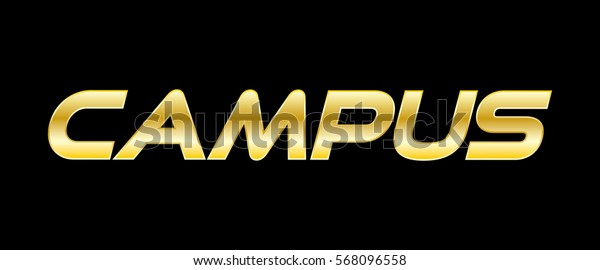 Campus golden text letter logo