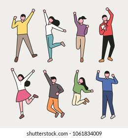 campus life characters. vector illustration flat design