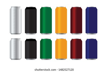 can mock up aluminium can beverage can food can on white background