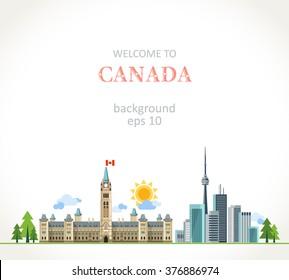 Canada background panorama
