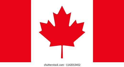 Canada Canadian Country Flag Illustration Design