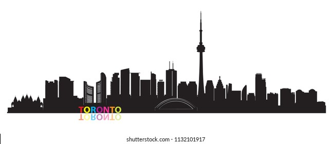 Canada city skyline. Toronto landmarks cityscape view. Travel  background. Tourism concept with modern buildings