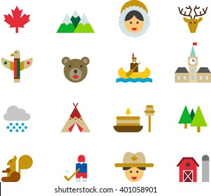 CANADA colored icons