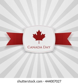 Canada Day festive Badge with Ribbon