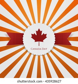 Canada Day realistic paper Badge