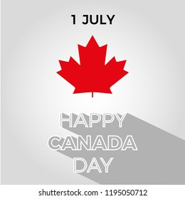 Canada Day Vector Illustration. Happy Canada Day Holiday Invitation Design