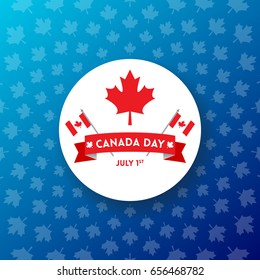 Canada Day vector illustration. Happy Independence day banner and print designs. Creative concepts for social media.