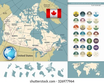 Detailed Map Of Canada.Canadian Map Images Stock Photos Vectors Shutterstock