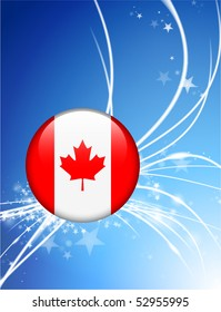 Canada Flag Button on Abstract Modern Light Background Original Illustration