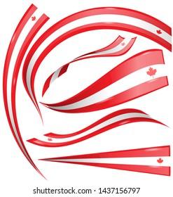 canada flag element isolated on white background