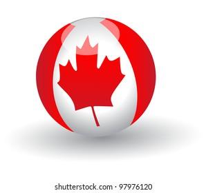 Canada  flag Globe.Vector