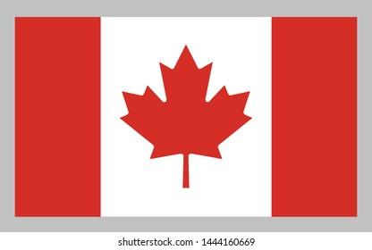 Canada flag illustration vector vector
