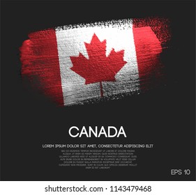 Canada Flag Made of Glitter Sparkle Brush Paint Vector