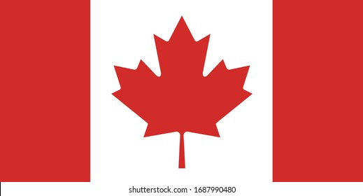 canada flag maple leaf red country