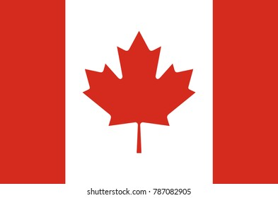 canada flag real colors