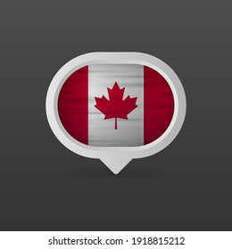 Canada flag realistic flag. Made in Canada. Vector illustration.