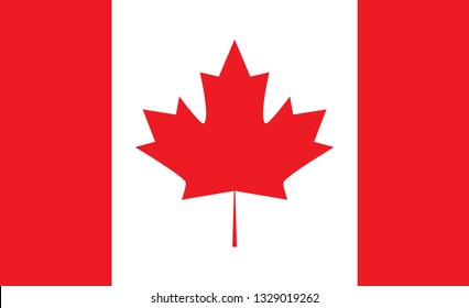 Canada flag. Simple vector Canadian flag