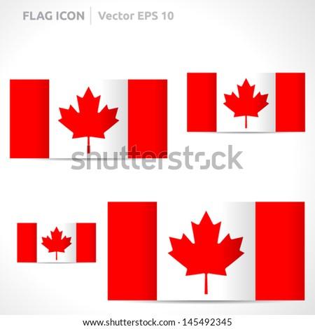 Canada Flag Template Vector Symbol Design Stock Royalty Free