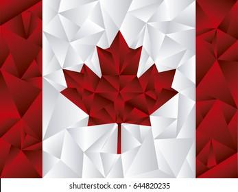 Canada Flag Triangle Vector