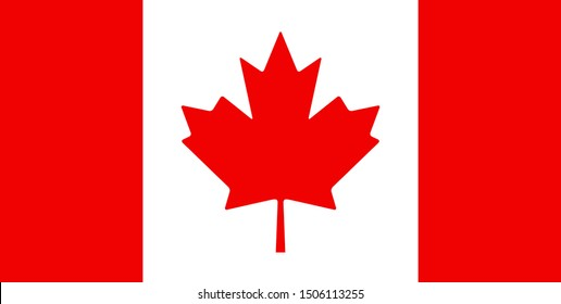 Canada flag vector canadian leaf maple icon isolated symbol.